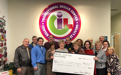 Thank You Ladies Auxiliary of Scranton Chapter of UNICO for the Generous Donation to the Transitional Skills Center!